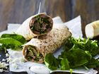 Wrap med flanksteak, peberrod+krydderurtesalat